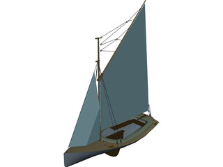 Gaf-Rig Sloop 3D Model