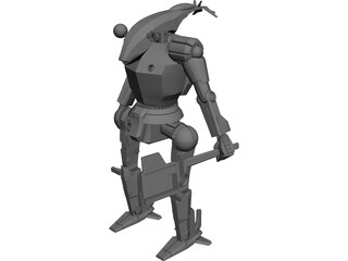 Hatchet Mech Warrior 3D Model