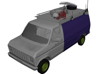 Television Live Truck 3D Model