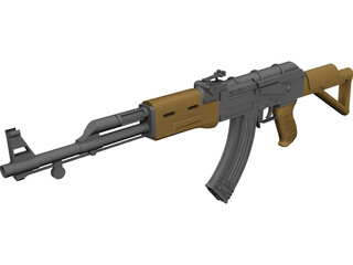 AK-47 Kalashnikov 3D Model 3D Preview