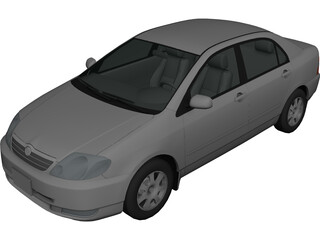 Toyota Corolla (2000) 3D Model