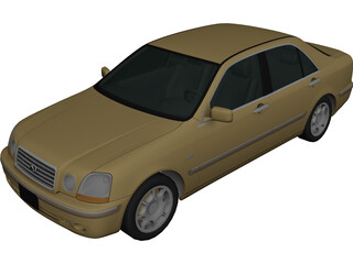 Toyota Progres (2001) 3D Model 3D Preview