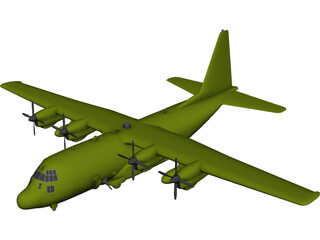 Lockheed AC-130U Gunship 3D Model