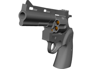Colt Python 4 Inch Combat 3D Model 3D Preview