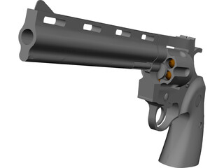 Colt Python 8 Inch Hunter 3D Model