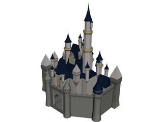 Cinderella Disney Castle 3D Model