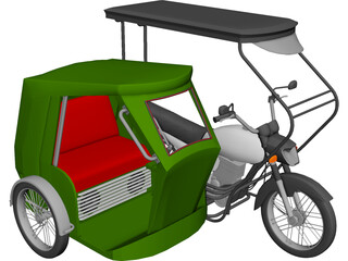 Tricycle Philippines 3D Model