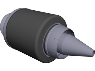 Jet Engine KJ66 CAD 3D Model