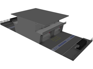Pit Lane Boxes 3D Model