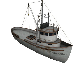 Fishing Boat 3D Model