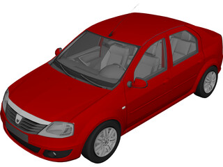 Renault Logan 3D Model 3D Preview