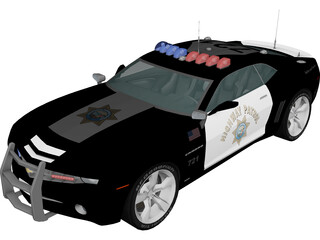 Chevrolet Camaro Highway Patrol 3D Model