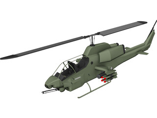 Bell AH-1W SuperCobra 3D Model