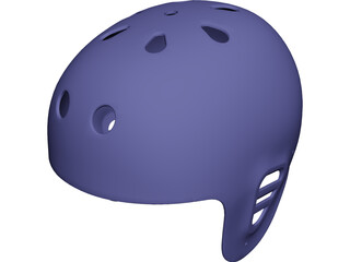 Fullcut Helmet Shell CAD 3D Model