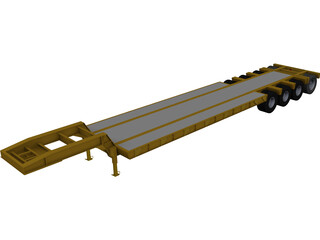 Trailer Low Boy CAD 3D Model