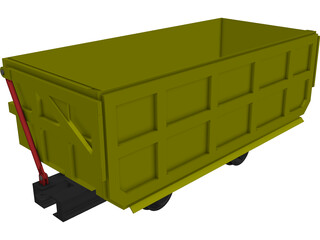 Mine Cart CAD 3D Model