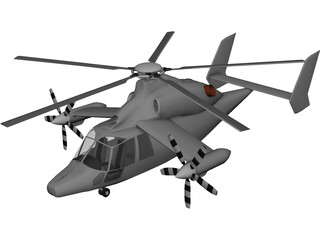 Eurocopter X3 3D Model 3D Preview
