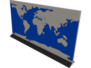 Earth Map CAD 3D Model