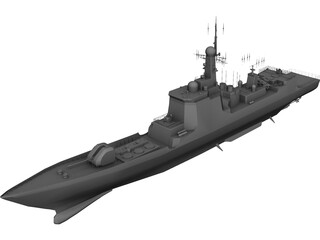 Type 052C Luyang-II Destroyer 3D Model