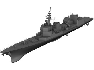 Akizuki-class Destroyer (2010) 3D Model