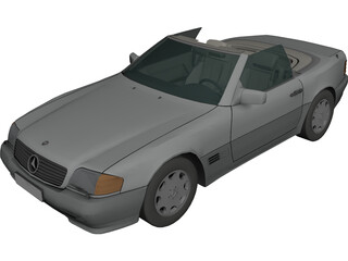 Mercedes-Benz 500SL 3D Model