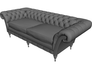 Sofa Chasterfield 3D Model