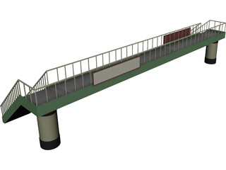 Japanese Foot Bridge 3D Model