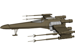 Star Wars X-Wing 3D Model