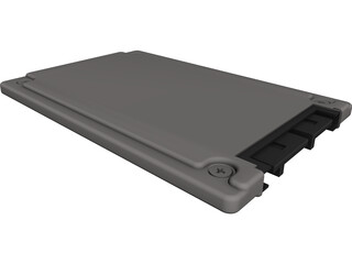 1.8 HDD SATA CAD 3D Model