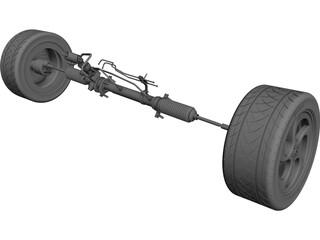 Power Steering CAD 3D Model