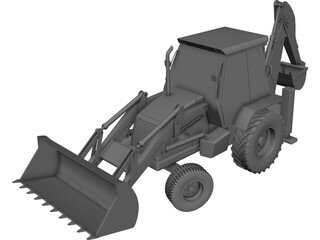 JCB 3DX 3D Model 3D Preview