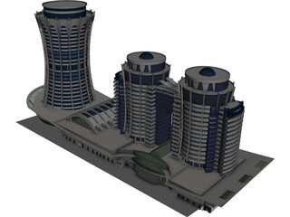 Azim Zadeh Tower 3D Model