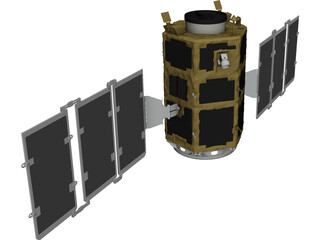 Kompsat 2 Artificial Satellite 3D Model