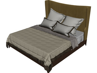 Baker Dane Upholstered Bed 3D Model