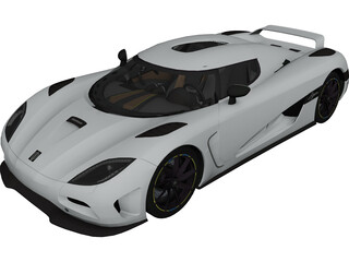Koenigsegg Agera 3D Model 3D Preview