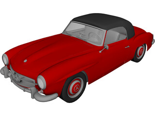 Mercedes-Benz 190SL (1955) 3D Model