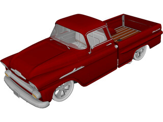 Chevrolet Apache Fleetside (1958) 3D Model