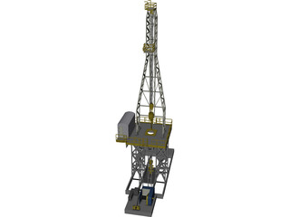 On-Shore Oil Rig 3D Model