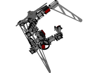 Camera Gimbal 3 Axis CAD 3D Model