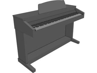 Kawai CA-5 Rosewood Digital Piano CAD 3D Model