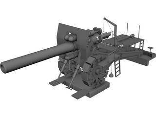 Big Bertha 42 cm 3D Model
