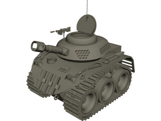 Cartoon Tank 3D Model