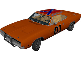 Dodge Charger R-T General Lee (1969) 3D Model