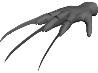 Bladed Glove 3D Model