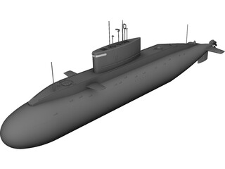 Submarine CAD 3D Model