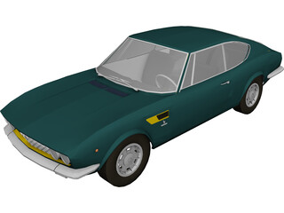 Fiat Dino Coupe (1967) 3D Model