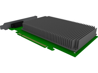 PCIeX16 Graphic Card CAD 3D Model