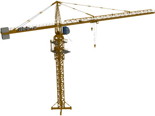 Tower Crane CAD 3D Model