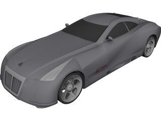 Maybach Exelero CAD 3D Model