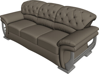 Fashion Multiplayer Sofa 3D Model